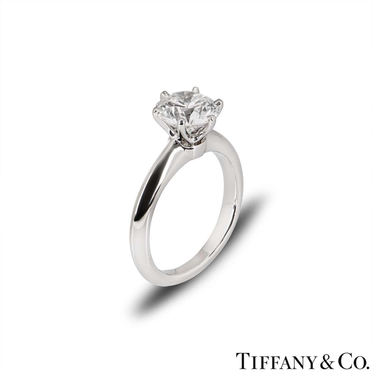 Tiffany & Co. Platinum Diamond Setting Ring 1.53ct G/VVS2 XXX